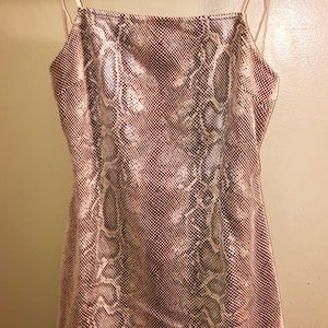 Urban Outfitters Dresses - Urban Outfitters Textured Snake Print Mini Dress